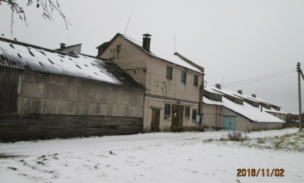 Selling 798.96 sq. m. warehouse premises in Kriaunai, Baršėnų village, Rokiškio district
