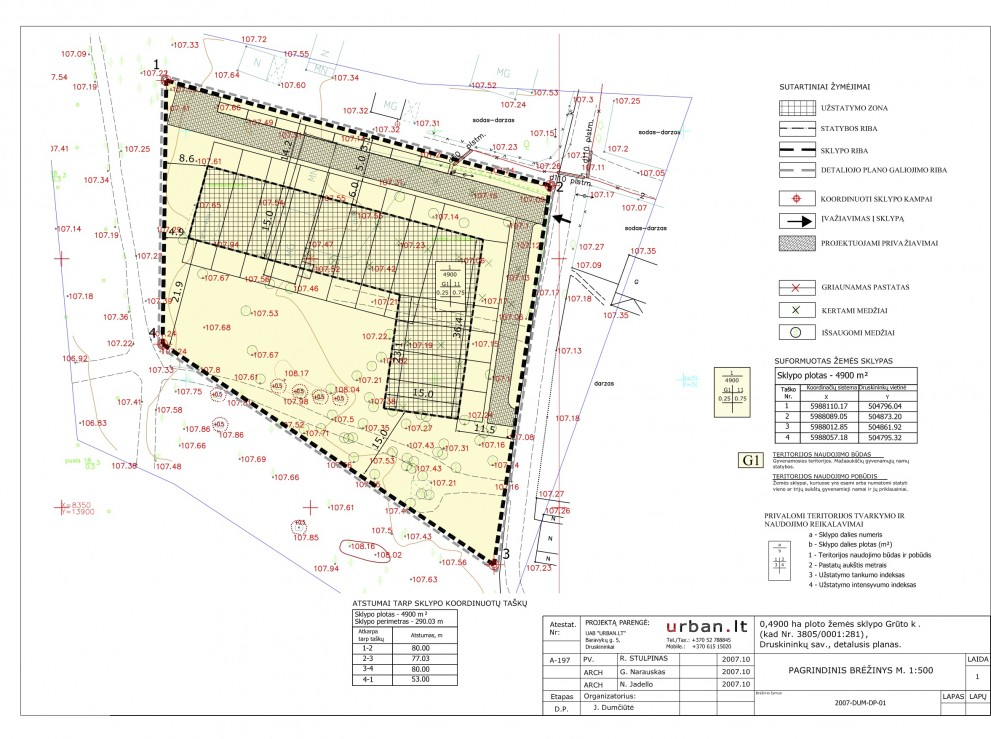 49 ares of land for the construction of low floor with a detailed plan in exceptional beauty, picturesque Grutas